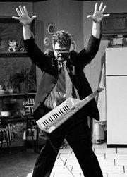 Southpaw Jones with his precious keytar